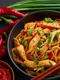 Schezwan chicken noodles recipe